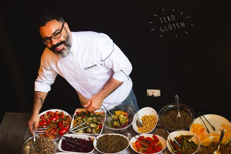 O Chef Renato Caleffi, do restaurante Le Manjue Organique