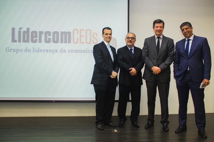 Paulo Marinho, Paulo Nassar, Roberto Setubal e Hamilton dos Santos. (Imagem: Evandro Moraes)