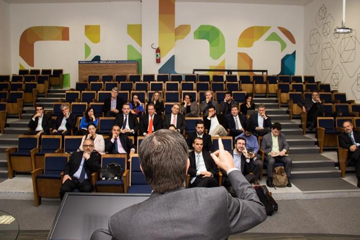 Roberto Setubal no encontro do Lidercom CEOs. (Imagem: Evandro Moares)