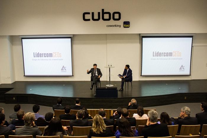 Roberto Setubal no encontro do Lidercom CEOs. (Imagem: Evandro Moraes)