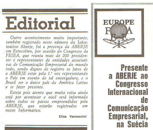 11º congresso da FEIEA - Federation of European Industrial Editors Associations (Acervo CMR Aberje)
