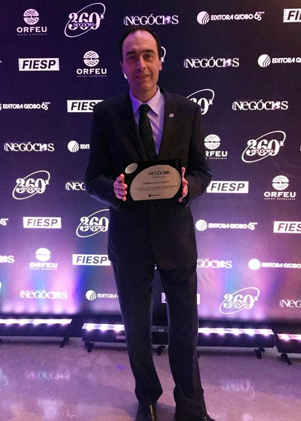 José Borges Matias, presidente do Grupo Solvay na América Latina recebeu o prêmio da revista Época Negócios 360º
