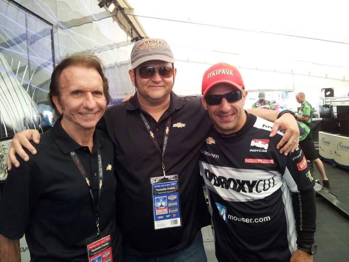 Com Emerson Fittipaldi e Tony Kanaan no GP Chevrolet de Belle Isle de Indycar em 2013