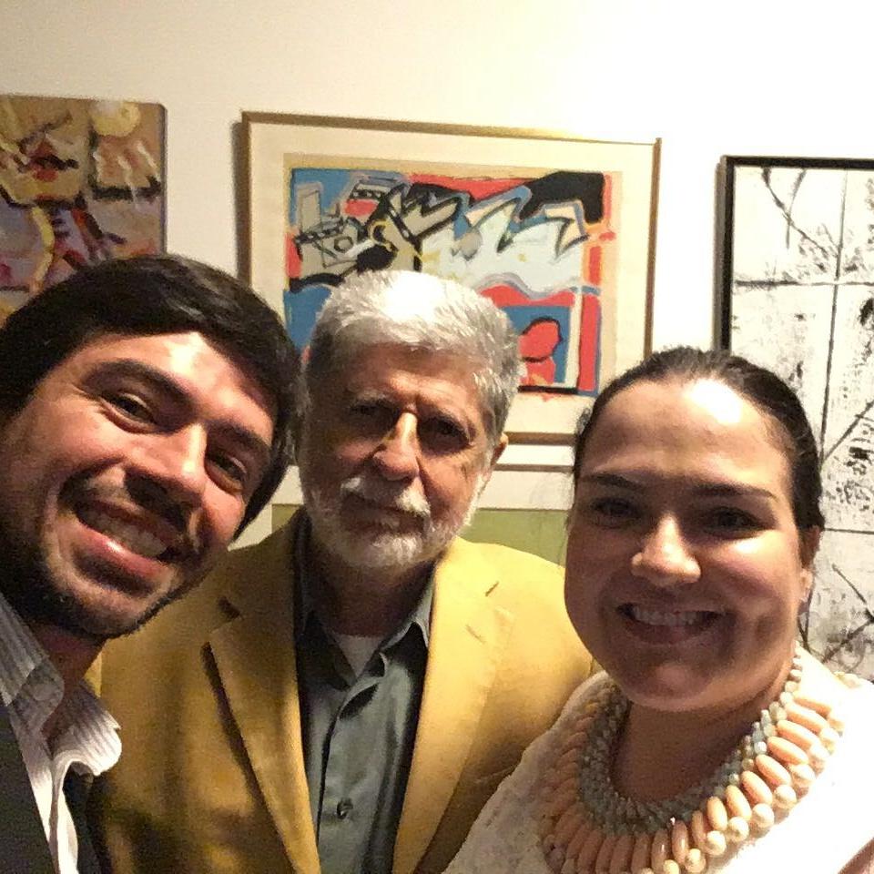 Tato Carbonaro, Celso Amorim e Tatiana Maia Lins