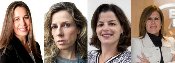 Gislaine Rossetti (LATAM), Daniela Pinheiro (Revista Época), Alecsandra Zapparoli (Abril), Dra. Sandra Abrahão (Bayer)