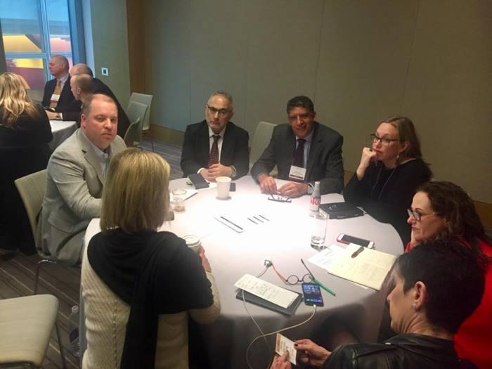"""Paulo Nassar e Hamilton dos Santos participam do workshop """"A Agenda do CEO"""", parte da programação do Spring Seminar 2018 da Arthur W. Page Society, em Nova York."""