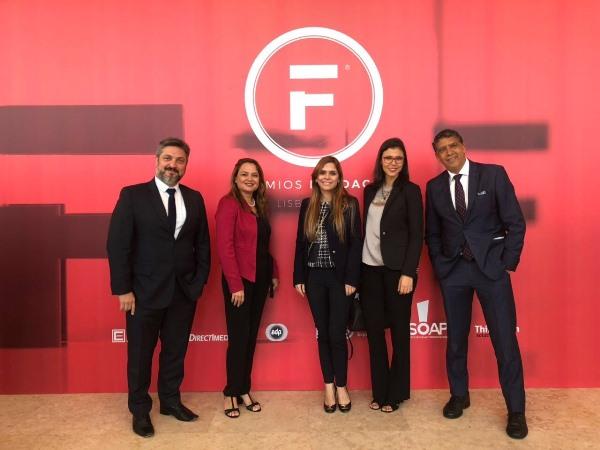 Brasileiros durante o Prêmios Fundacom 2018