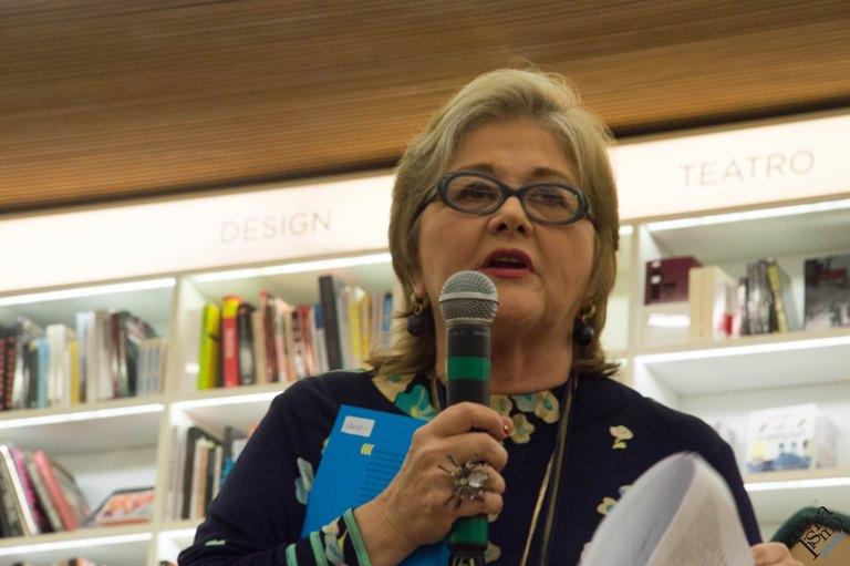 Lalá Aranha, coautora do livro. Foto: Luís Henrique Franco | Jornalismo Junior