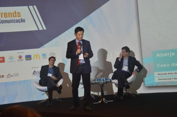 Reynaldo Goto fala sobre os desafios da manutenção da reputação de empresas (Imagem: Larissa Carolina/Jornalismo Júnior)